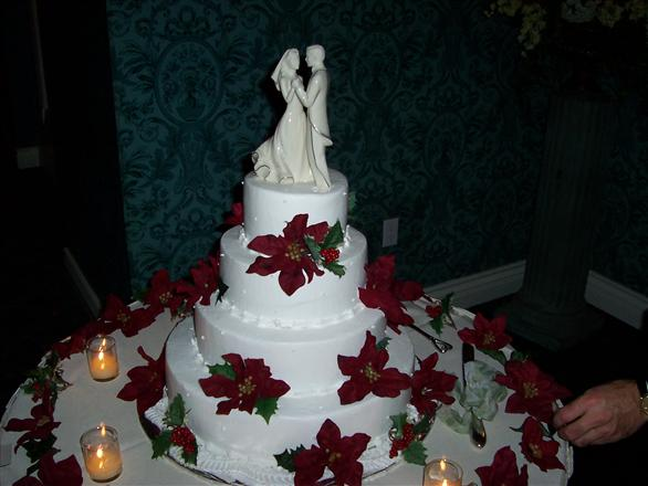 We had a Christmas themed wedding I loved our cake ladybug78