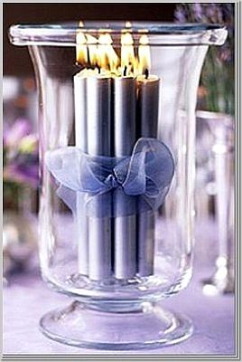 Pillar Candle Wedding Centerpieces