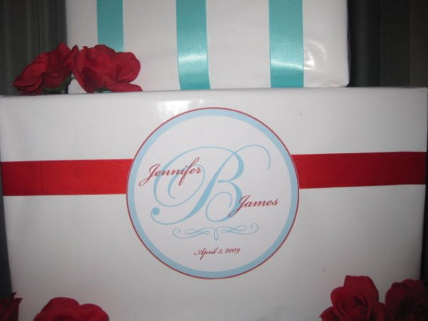 Re My tiffany blue and red wedding