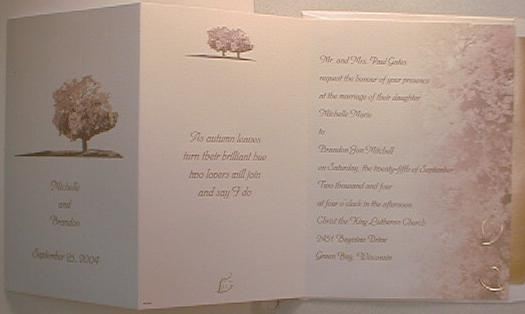 scrapbook wedding invitations ideas