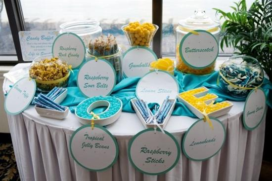 I wanted a bright summery color scheme so I went with a teal aqua yellow