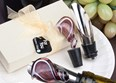 Murano Glass Swirl Design Wine Stopper and Pourer Set